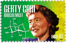 US Postal stamp of Nobel Laureate Gerty Cori