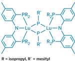 lutetium version only forms a dimer with bridging phosphinidene groups.