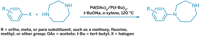 Tosoh';s route to substituted aryl homopiperazine derivatives uses palladium-catalyzed coupling instead of cyclization.