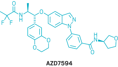 Structure of AZD7594.