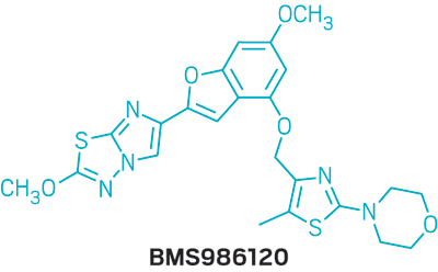 Structure of BMS986120.