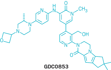 Structure of GDC0853.
