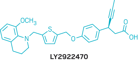 Structure of LY2922470.